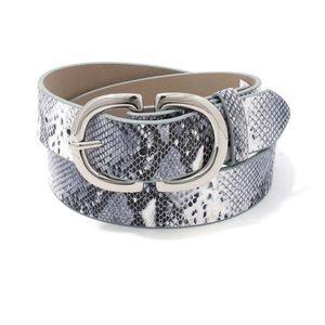 Metal Buckle Snake Pattern Leather Belt NEW